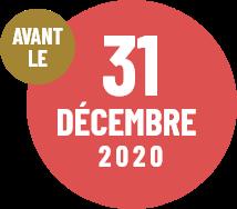 Avant le 31 décembre 2020