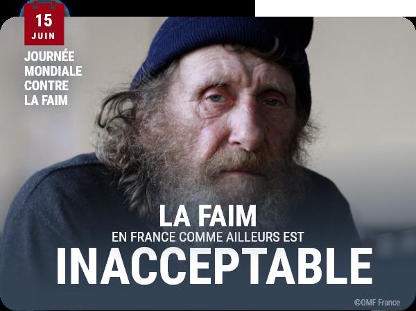 La faim, en France comme ailleurs, est innacceptable.